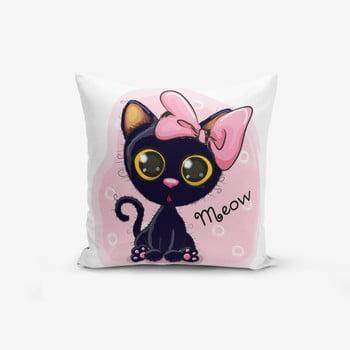 Față de pernă Minimalist Meow Catcik, 45 x 45 cm de la Minimalist Cushion Covers