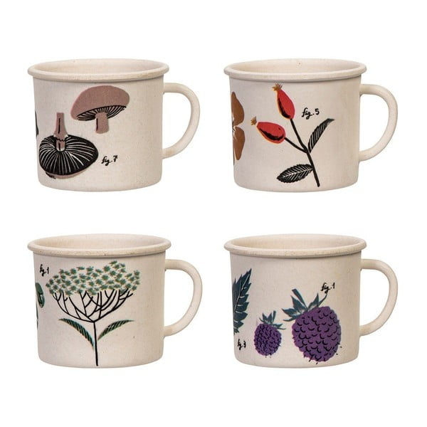 Sada 4 šálků na espresso Magpie Flora