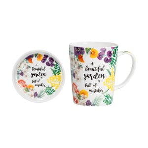 Set hrnku s podnosem z kostního porcelánu Maxwell & Williams Beautiful Garden, 400 ml