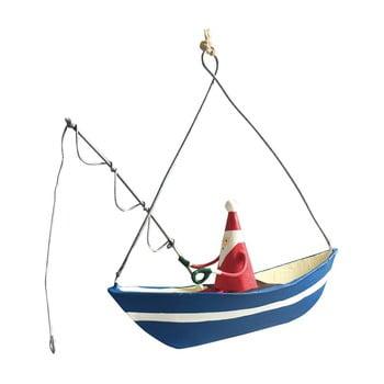 Decorațiune suspendată pentru Crăciun G-Bork Santa Fishing imagine