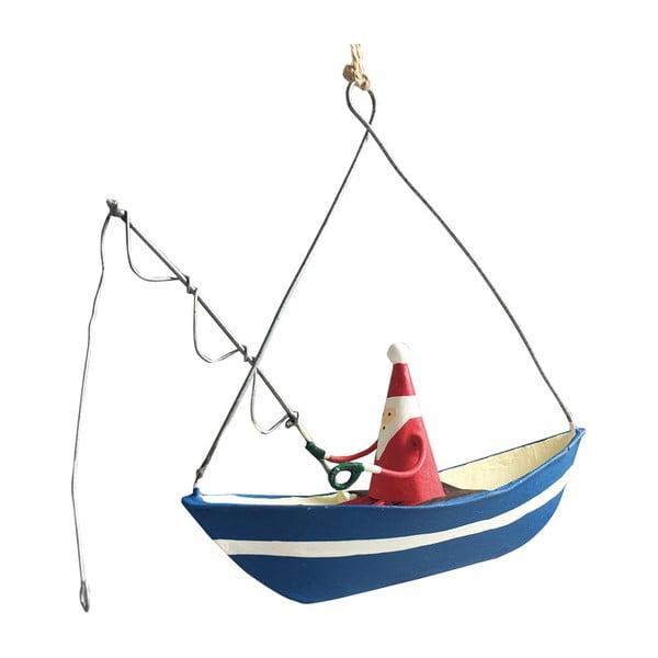 Santa Fishing karácsonyi függődísz - G-Bork