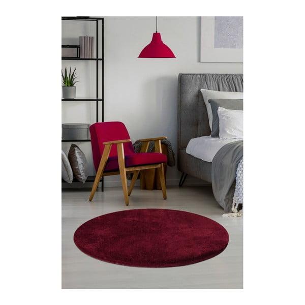 Covor Milano, ⌀ 90 cm, roșu închis