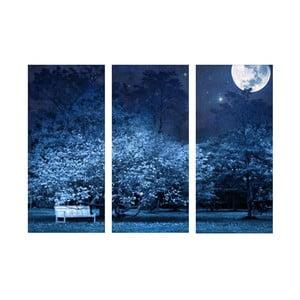 Vídedílný obraz Wall Framework Blue Night Sky, 50 x 69 cm