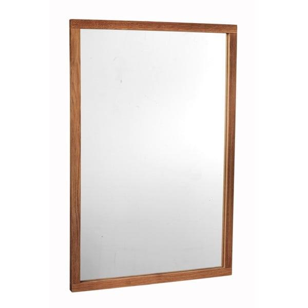 Oglindă cu ramă din lemn de stejar Rowico Lodur