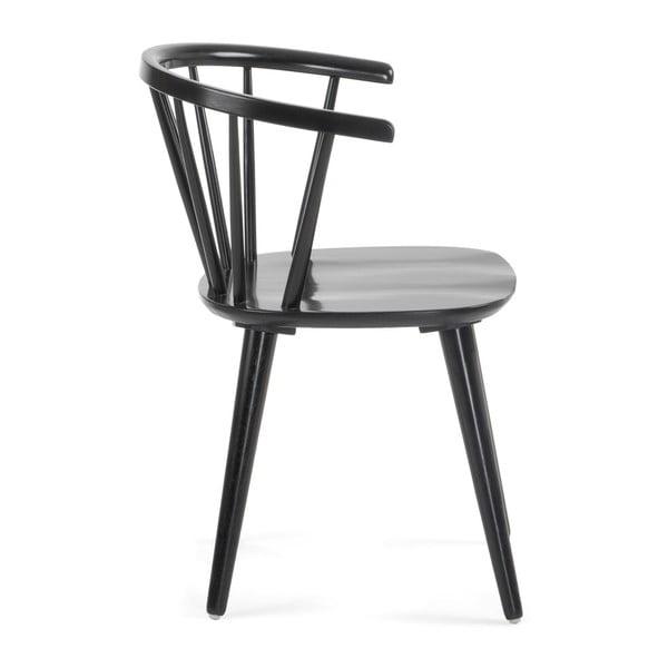 Černá jídelní židle ze dřeva kaučukovníku La Forma Krise