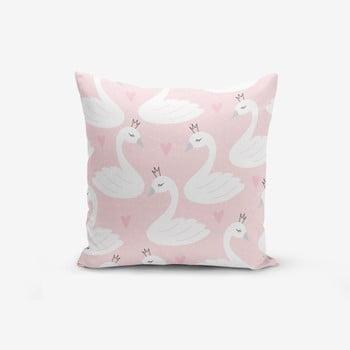 Față de pernă cu amestec din bumbac Minimalist Cushion Covers Pink Puan Animal Theme, 45 x 45 cm de la Minimalist Cushion Covers