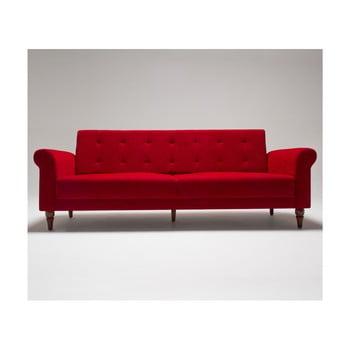 Canapea extensibile Balcab Home Gina roşu