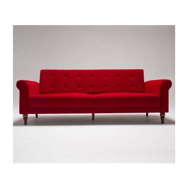 Červená rozkládací pohovka Balcab Home Gina