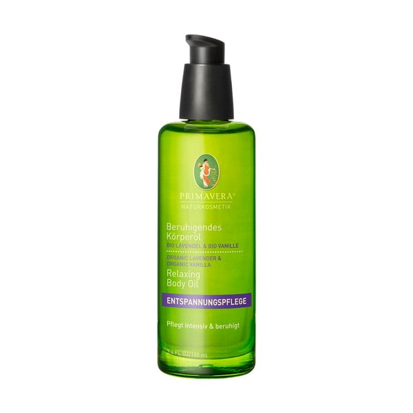 Tělový olej Primavera Levandule Vanilka, 100 ml