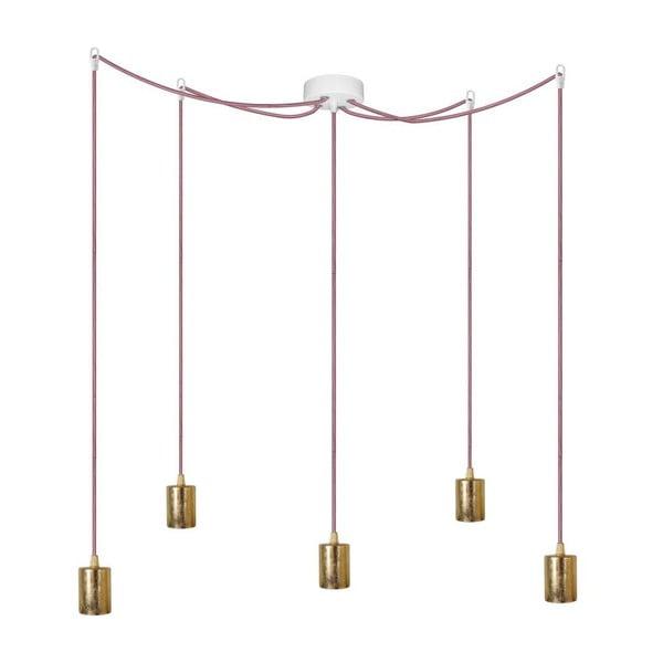 Pět závěsných kabelů Cero, zlatá/bíločervená/bílá