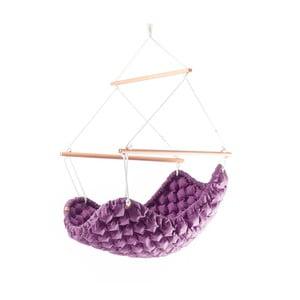 Interiérové houpací křeslo Swingy In Mystic, fialové