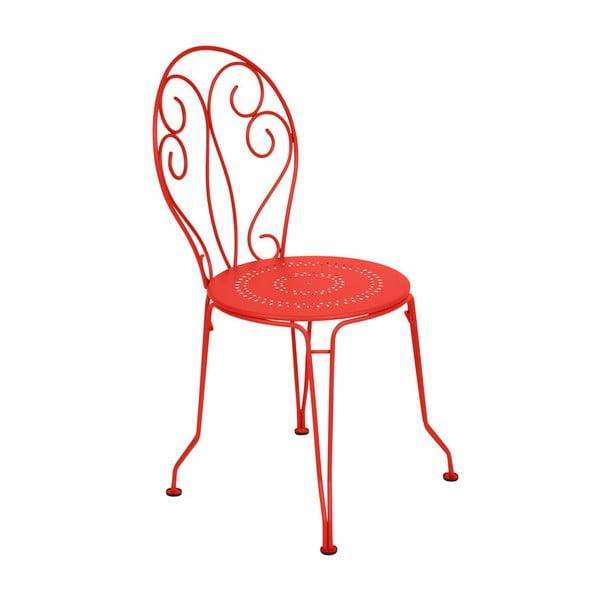 Oranžovočervená kovová židle Fermob Montmartre