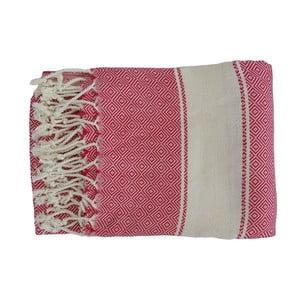Červená ručně tkaná osuška z prémiové bavlny Homemania Elmas Hammam,100x180 cm