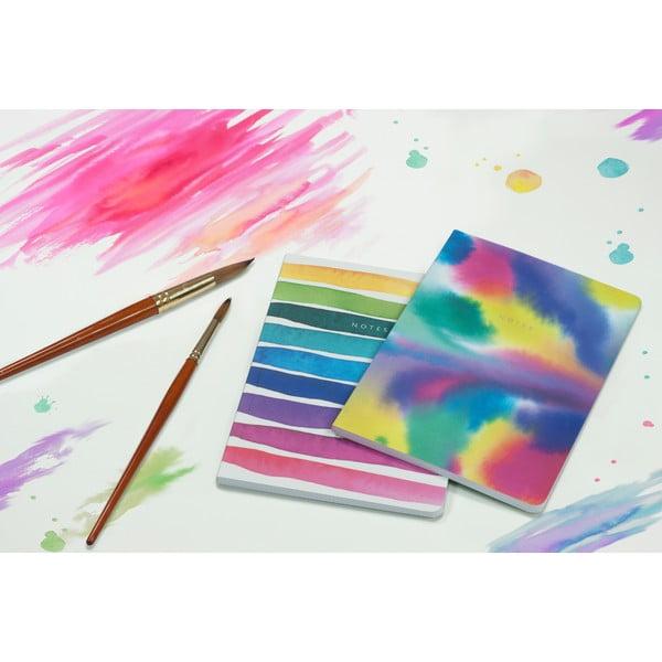 Sada 2 zápisníků A5 Portico Designs Watercolor, 100stránek