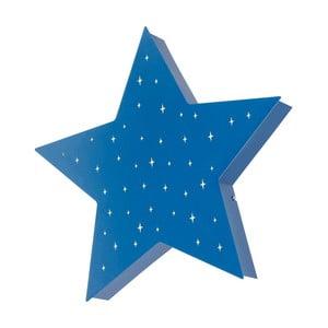 Modré nástěnné svítidlo ve tvaru hvězdy Glimte Montu