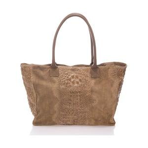 Béžová kožená kabelka Lisa Minardi Fausta