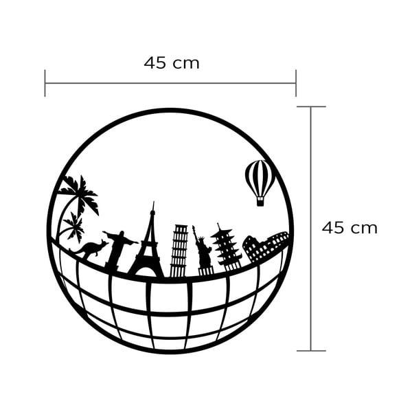 Nástěnná kovová dekorace Cities