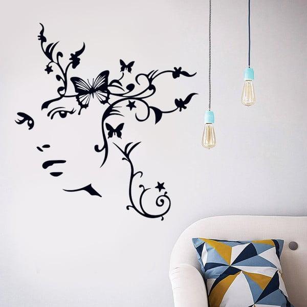 Samolepka na zeď Motýlí žena, 90x60 cm