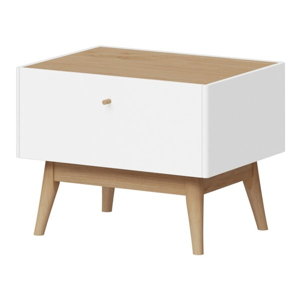 Bílý noční stolek Germania Monteo