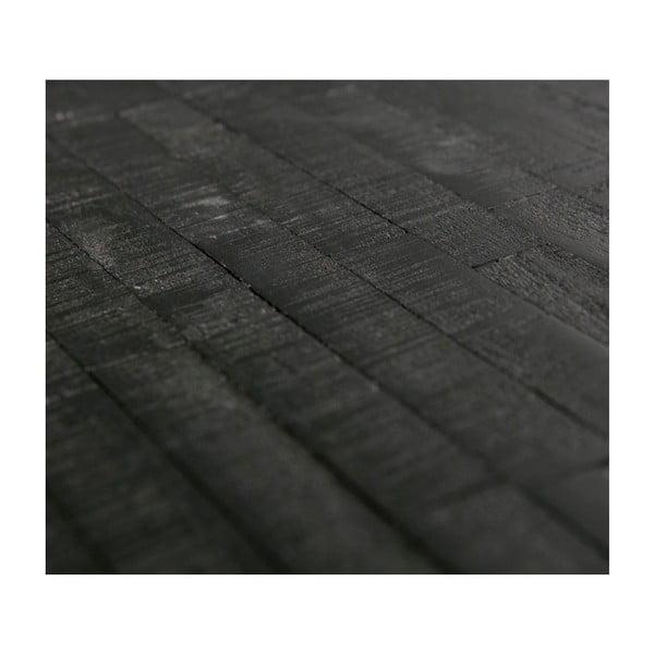 Černý odkládací stolek s deskou z recyklovaného týkového dřeva De Eekhoorn Shape