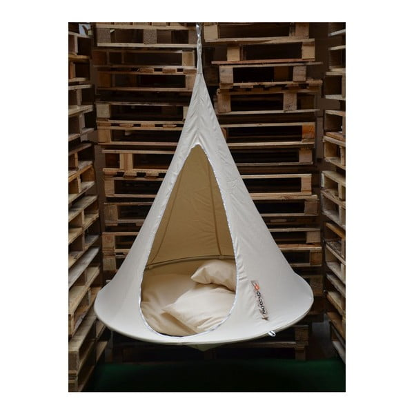 Bílé závěsné křeslo pro děti Cacoon Bonsai