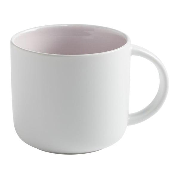 Bílý porcelánový hrnek s růžovým vnitřkem Maxwell&Williams Tint, 450ml