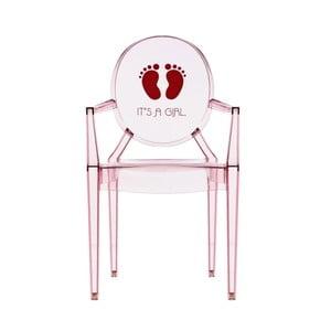 Dětská transparentní židle Kartell Lou Lou Ghost Girl