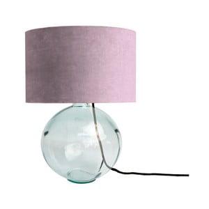 Fialová lampa z ručně foukaného skla se sametovým stínítkem Velvet Atelier
