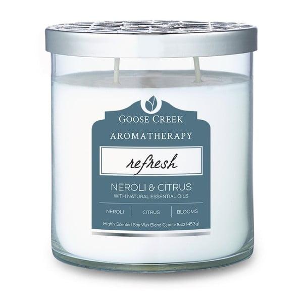 Świeczka zapachowa w szklanym pojemniku Goose Creek Neroli & Citrus, 60 godz. palenia