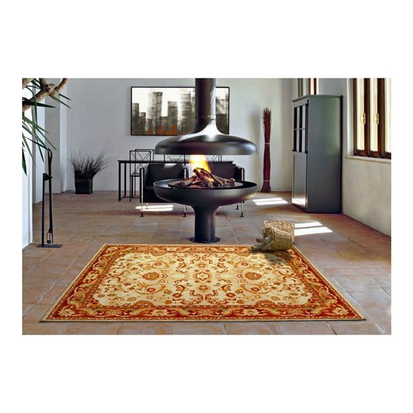Oranžovobéžový koberec Universal Madras, 133x190cm