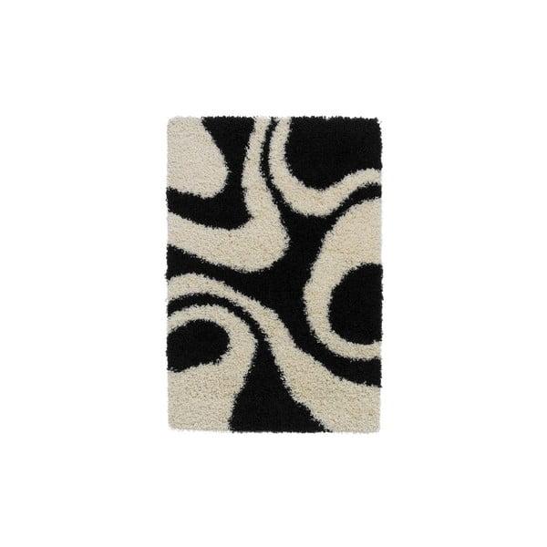 Koberec Vista Black White, 80x150 cm