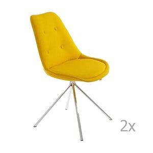 Set 2 scaune 13Casa Lars, galben