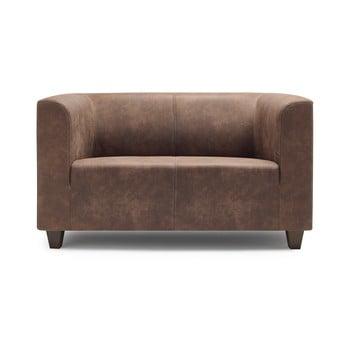 Canapea cu 2 locuri Bobochic Paris Django Preston maro