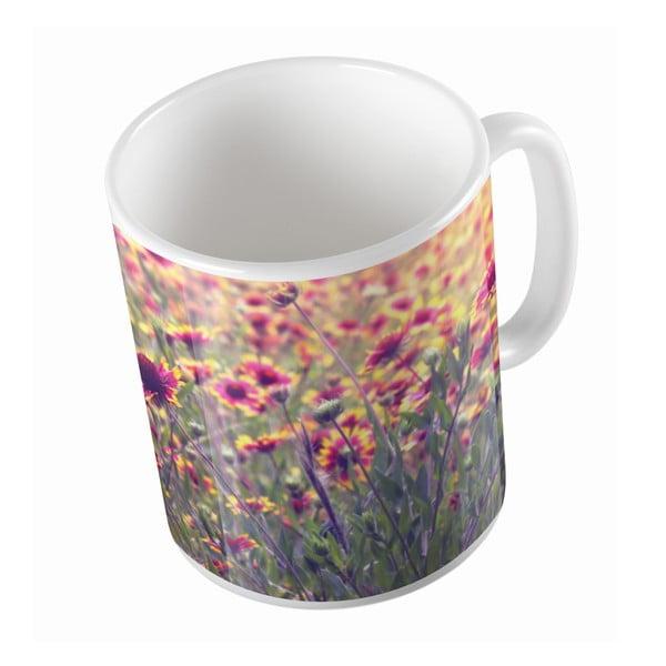 Keramický hrnek Flower Field, 330 ml