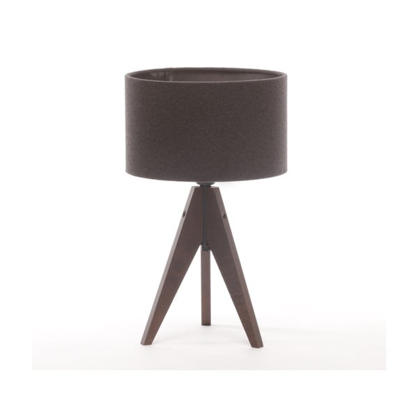 Stolní lampa Arist Cylinder Dark Grey/Dark Brown