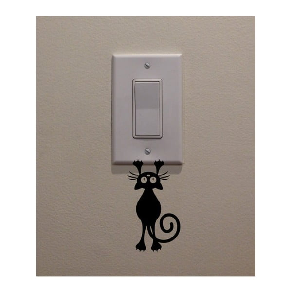 Autocolant decorativ de perete Catty, înălțime 12 cm