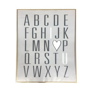 Zlatý rámeček Maiko Alphabet