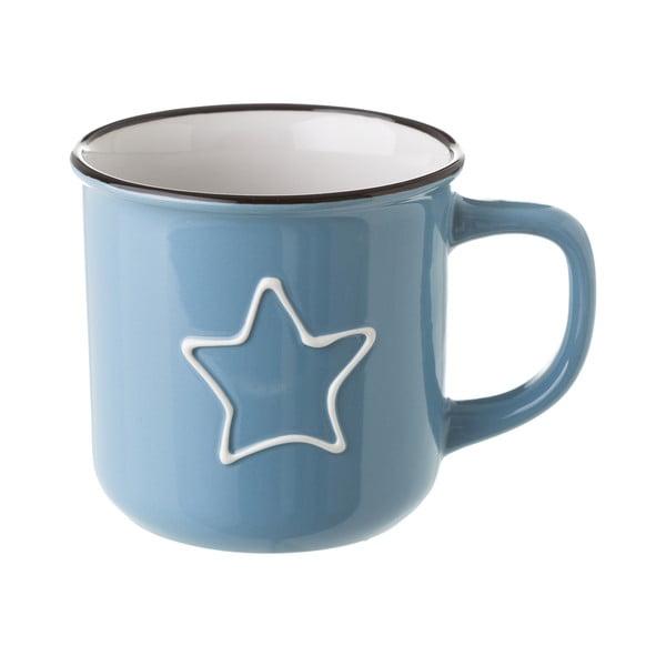 Modrý keramický hrnček Unimasa Star, 325 ml