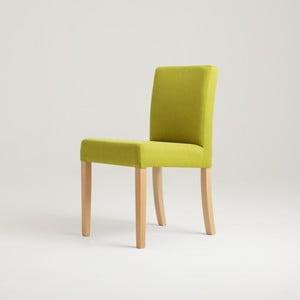 Zelená židle s bukovými nohami Wilton