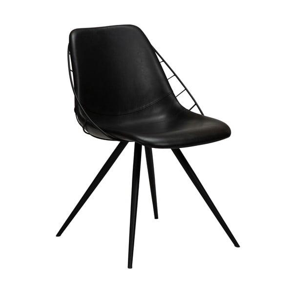 Černá jídelní židle v imitaci kůže DAN-FORM Denmark Sway