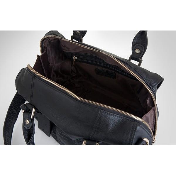 Kožená kabelka Valentini 857, černá