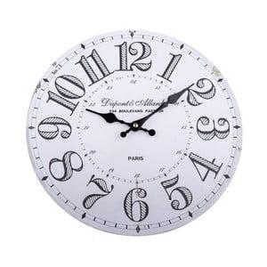 Dřevěné nástěnné hodiny Dakls Simmi, ø34cm