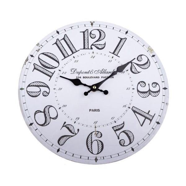 Drevené nástenné hodiny Dakls Simmi, ø 34 cm
