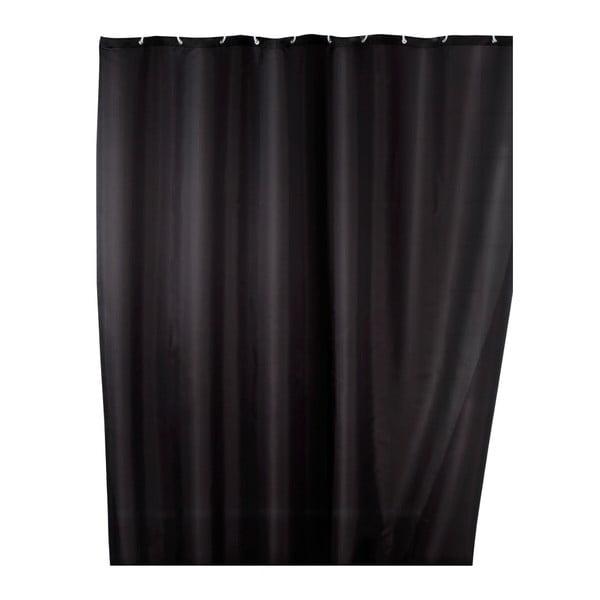 Černý sprchový závěs s protiplísňovou povrchovou úpravou Wenko, 180x200cm