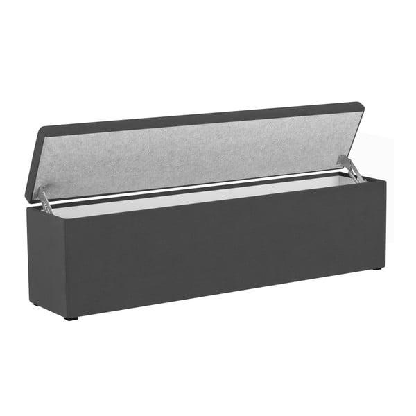 Tmavě šedý otoman s úložným prostorem Windsor & Co Sofas Nova, 140 x 47 cm