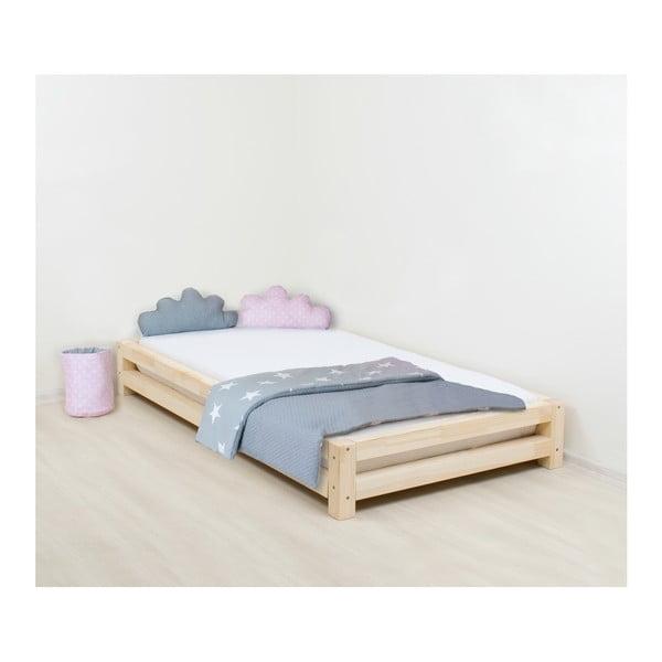 Jednolůžková postel zlakovaného smrkového dřeva Benlemi JAPA, 120x190cm