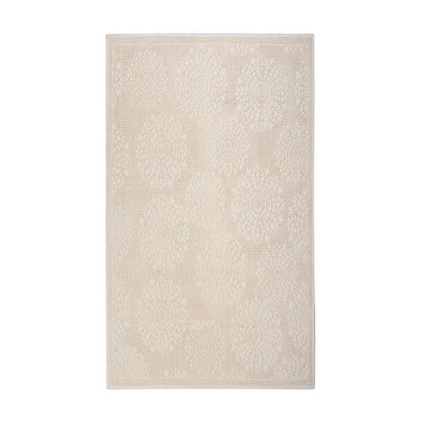 Krémový bavlněný koberec Floorist Ganda, 120x180cm