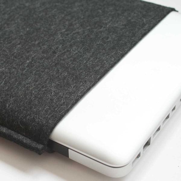 """Plstěný obal na MacBook PRO 17"""" Basic, black stone grey"""