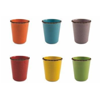 Set 6 pahare din ceramică pentru apă Villa d'Este Baita, 350 ml