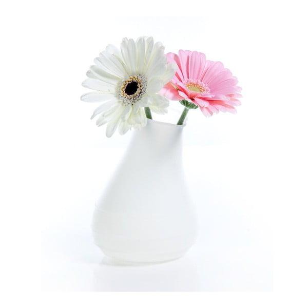 Silikonová váza Blob, bílá